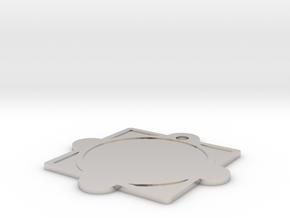 Customizable Mandala Pendant 2 in Platinum