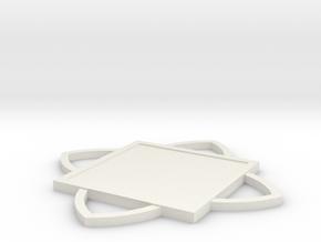 Custom Mandala Pendant 4 in White Natural Versatile Plastic