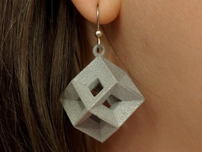 Tessellating Earring in Polished Metallic Plastic