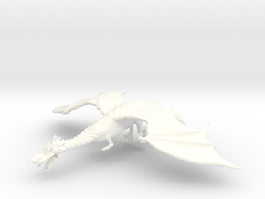 Dragon in White Processed Versatile Plastic