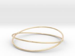 Space Bracelet  Ø64 mm/ Ø2.519 inch medium in 14K Yellow Gold