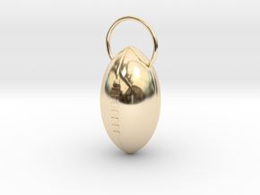 Footall Pendant in 14k Gold Plated Brass