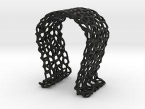 Omega Headphone Stand - Voronoi style in Black Natural Versatile Plastic