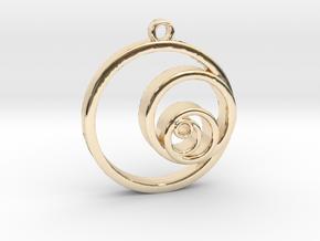 Fibonacci Circles Necklace in 14k Gold Plated Brass