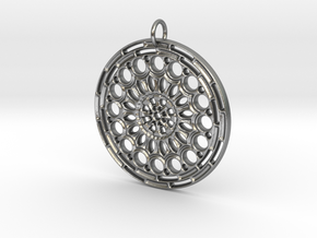 Mandala No. 7 in Raw Silver