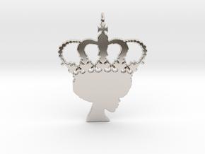 Royalty in Rhodium Plated Brass