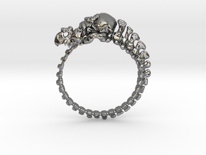 Dragon Ring - Size 9  in Fine Detail Polished Silver