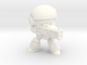 CORPORATION TROOPER (AIMING) in White Strong & Flexible Polished