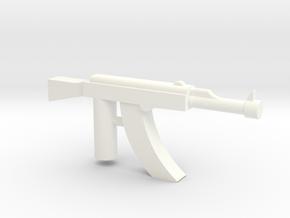 Ak-47 Minifigure Gun 1.3 in White Processed Versatile Plastic