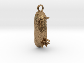 Unna the Nudibranch Pendant (Sea Bunny) in Natural Brass