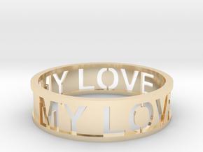 Bracelet my love in 14k Gold Plated Brass