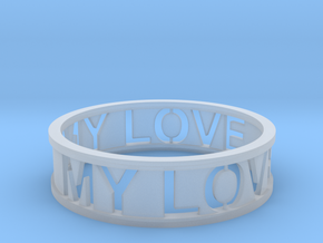 Bracelet my love in Smooth Fine Detail Plastic