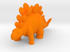 Stegosaurus (Nikoss'Dinosaurs) in Orange Processed Versatile Plastic