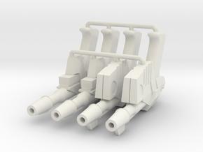 1:6 Sci-Fi Blasters Ported muzzle SF in White Natural Versatile Plastic