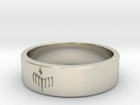 Spectre Ring (various sizes) in 14k White Gold