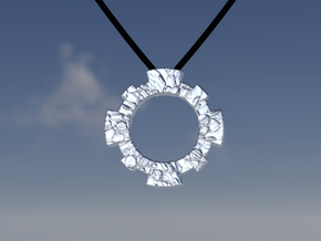 Oeil-de-boeuf Window Pendant in Polished Silver