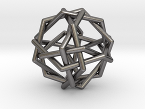 0455 Woven Truncated Octahedron (U08) in Polished Nickel Steel