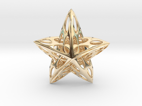 Star01 in 14k Gold Plated Brass
