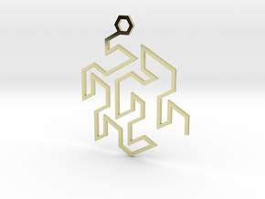 Gosper Pendant Single in 18k Gold Plated