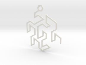 Gosper Pendant Single in White Natural Versatile Plastic