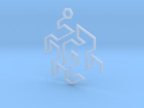 Gosper Pendant Single in Smooth Fine Detail Plastic