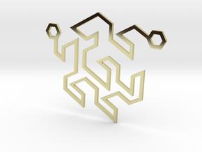 Gosper Pendant Double in 18k Gold Plated