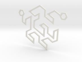Gosper Pendant Double in White Natural Versatile Plastic