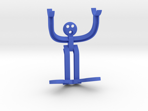 H-beam Man in Blue Processed Versatile Plastic
