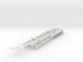 000470 Australia Container Trailer HO in White Natural Versatile Plastic
