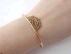 Half Lace Cuff - small in 14k Gold Plated Brass