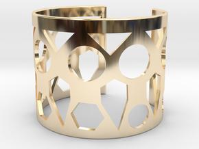 Cubic Bracelet Ø73 Mm Style A/Ø2.874 XL in 14k Gold Plated Brass