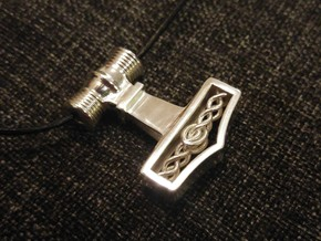Mjölnir - Thor's hammer in Polished Silver