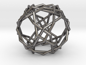 0457 Woven Truncated Cuboctahedron (U11) in Polished Nickel Steel