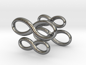 Cufflinks Infinity  Symbol 2x in Polished Silver