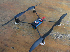 Honeycomb Drone Frame in White Processed Versatile Plastic