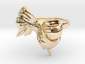 Bow Ring Deluxe S7 in 14k Gold Plated Brass: 7 / 54