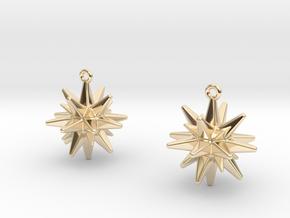 Christmas_Star Earrings  in 14K Yellow Gold