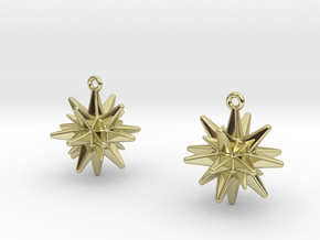 Christmas_Star Earrings  in 18k Gold Plated Brass