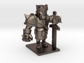 Barbarian King  in Polished Bronzed Silver Steel