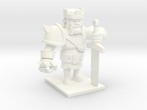 Barbarian King  in White Processed Versatile Plastic