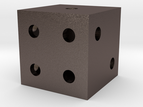 Dice in Polished Bronzed Silver Steel