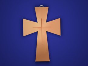 The Cross in Polished Bronze