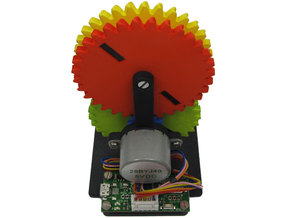 Gear Tower Clock - Motorized Base Only in White Processed Versatile Plastic