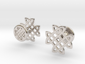 CELTIC KNOT CUFFLINKS in Rhodium Plated Brass