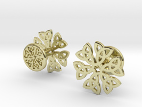 CELTIC KNOT CUFFLINKS 021116 in 18k Gold Plated Brass