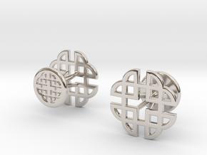 CELTIC KNOT CUFFLINKS 021316 in Platinum