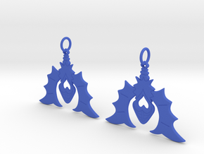 Batty For You Earrings in Blue Processed Versatile Plastic