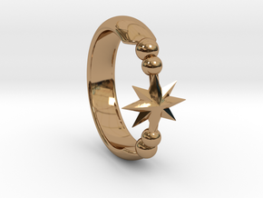 Ring of Star 14.1mm in Polished Brass