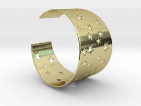 Starry Night Bracelet Ø58 mm/Ø2.283 inch S in 18k Gold Plated Brass