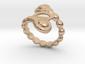 Spiral Bubbles Ring 22 - Italian Size 22 in 14k Rose Gold Plated